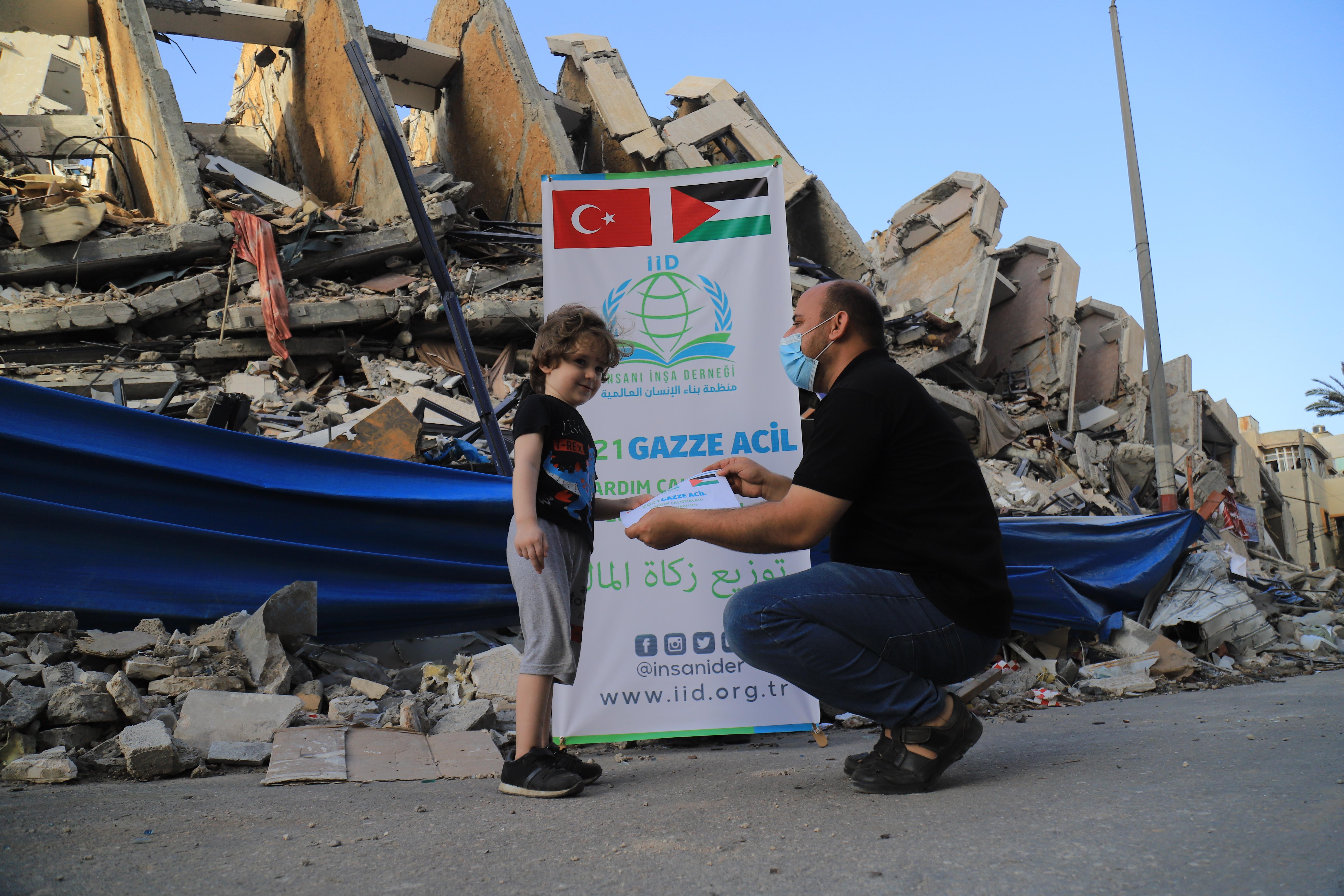 Zekâtlarınız Gazze'ye ulaştırmaya devam ediyoruz. - Haberler - İnsanı İnşa Derneği İİD. Uluslararası Yardım Kuruluşu